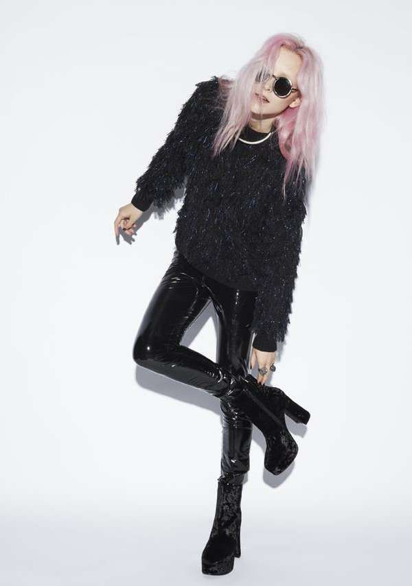 Witchy Grunge Lookbooks  The Evil Twin Winter 2012 Collection is 90s-Inspired #pinkhair #grunge #90sfashion