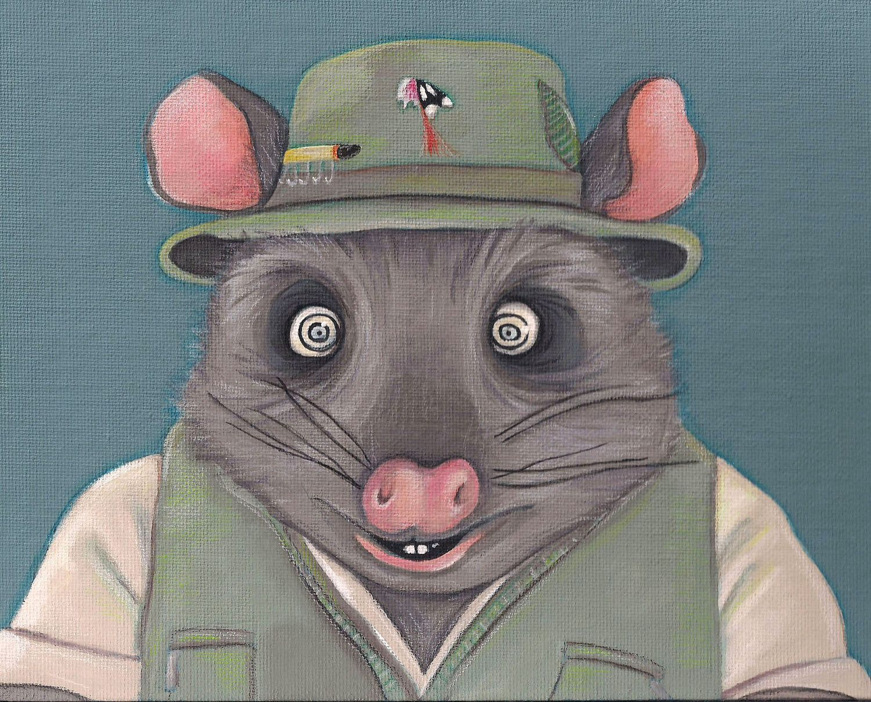 Fantastic Mr Fox Kylie Opossum 5x7 Print Fantastic Mr Fox Fox Print 5x7 Print