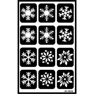 Self Stick Reusable Glass Etching Stencils Snowflakes Glass Etching Patterns Snowflake Stencil Glass Etching Diy