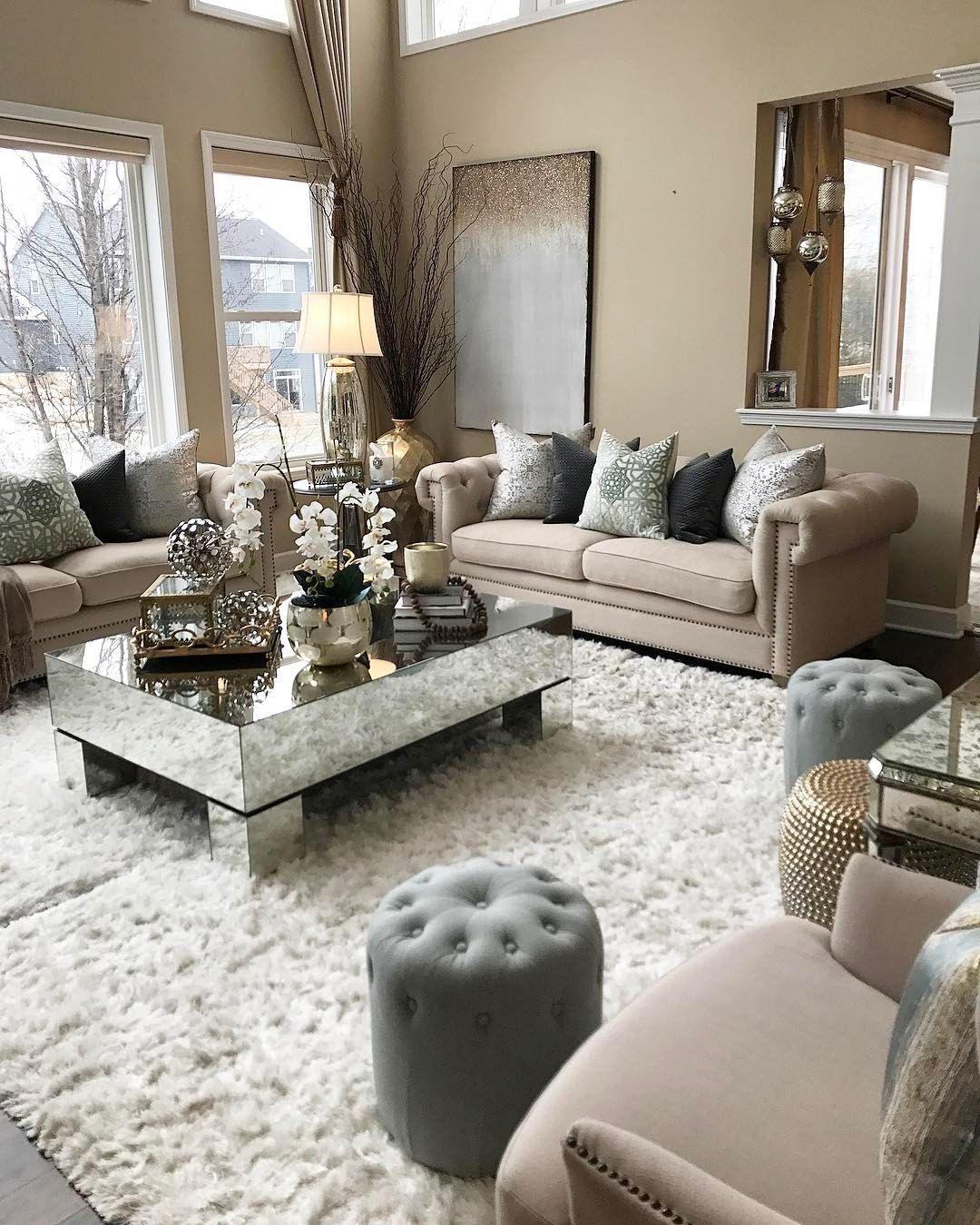 Living Room Decor · Wohn EsszimmerWohnzimmer IdeenHausbauFavoritenGemütliche  WohnzimmerElegantes WohnzimmerWohnräumeLuxusschlafzimmerKleine Wohnungen
