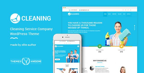 Cleaning Service Company WordPress Theme   Cleaning services company ...