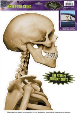 Skeleton Car Cling - #HalloweenDecorations #HalloweenCrafts #Halloween #Coupons #Offers
