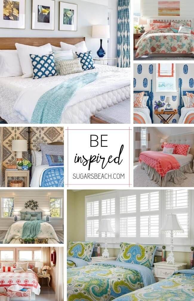 Beach Themed Bedrooms | Beach House Tours | Beach house ...