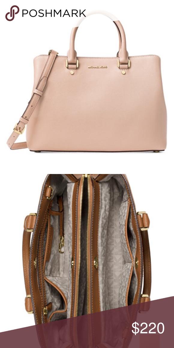 NWT Michael Kors Blush Savannah Satchel, Medium NWT Michael Kors Blush  Savannah Satchel, Medium. Sophisticated and stunning, this bag features a  matte ... 6518affcfc