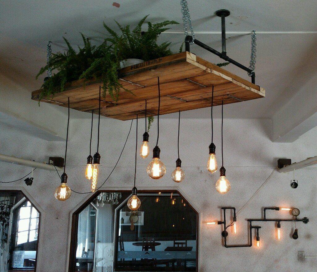L mpara techo colgantes vintage industrial lamparas - Lamparas industriales de techo ...
