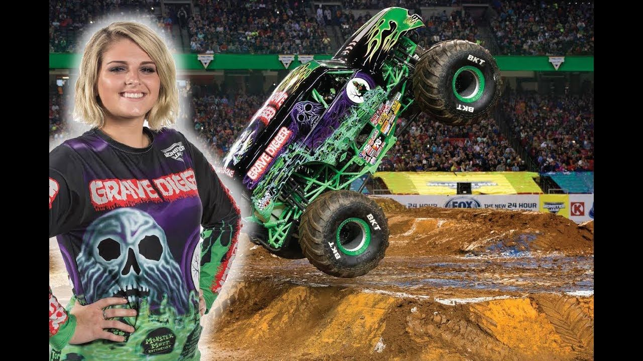 Grave Digger Girl Krysten Anderson Monster Jam Monster Truck Arena