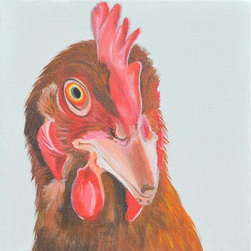 Scary Mary Acrylic on canvas 20x20cm £50