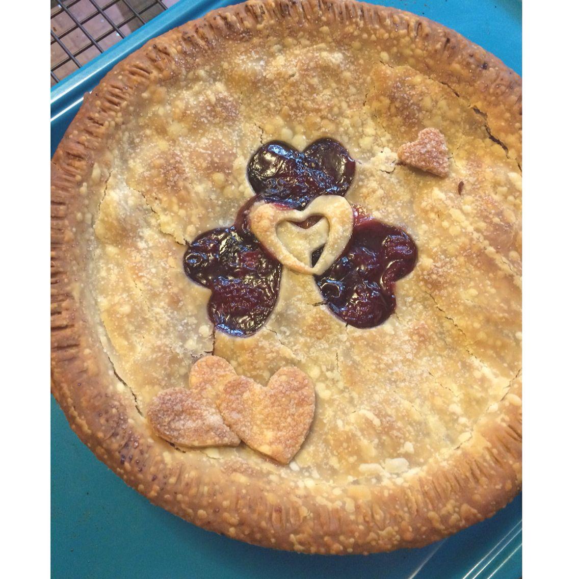 Fresh peach, strawberry & blueberry pie! by Cloud 9 Bakery in Miami | www.cloud9bakerycafe.com