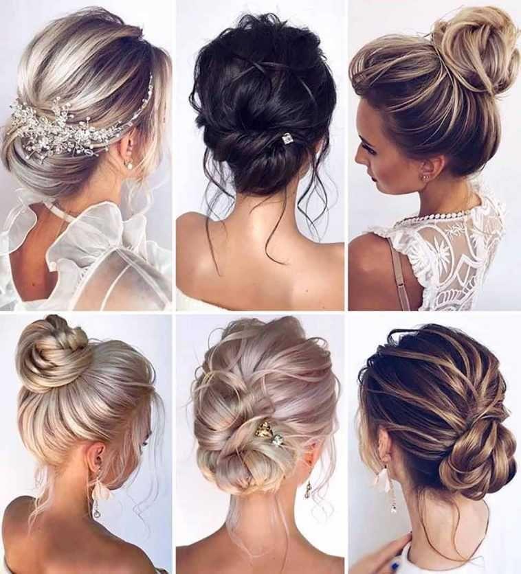 Photo of Acconciature capelli medi raccolti #frisuren party Acconciature capelli corti e …