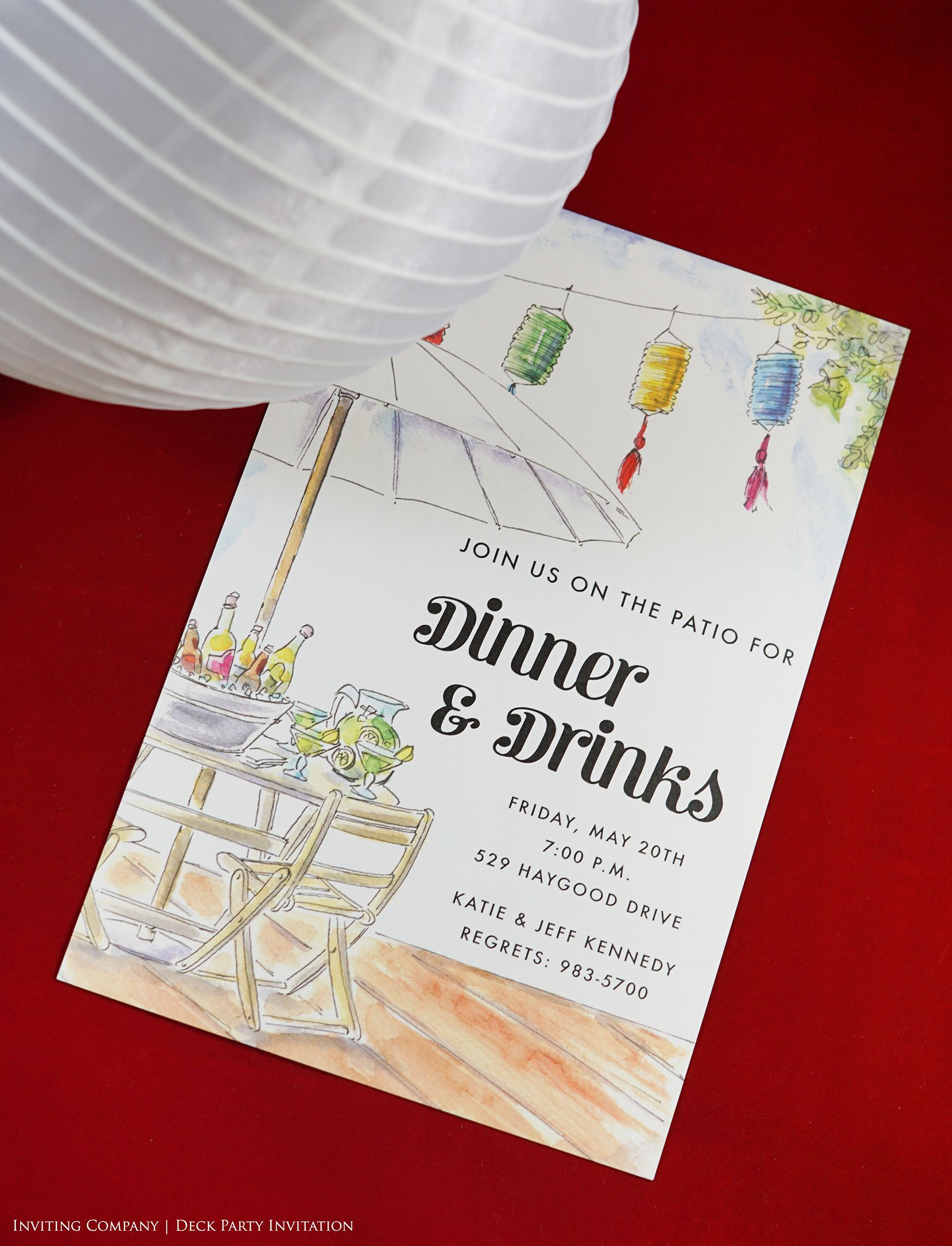 Deck Party Invitation | BBQ and Outdoor Parties | Pinterest | Deck ...