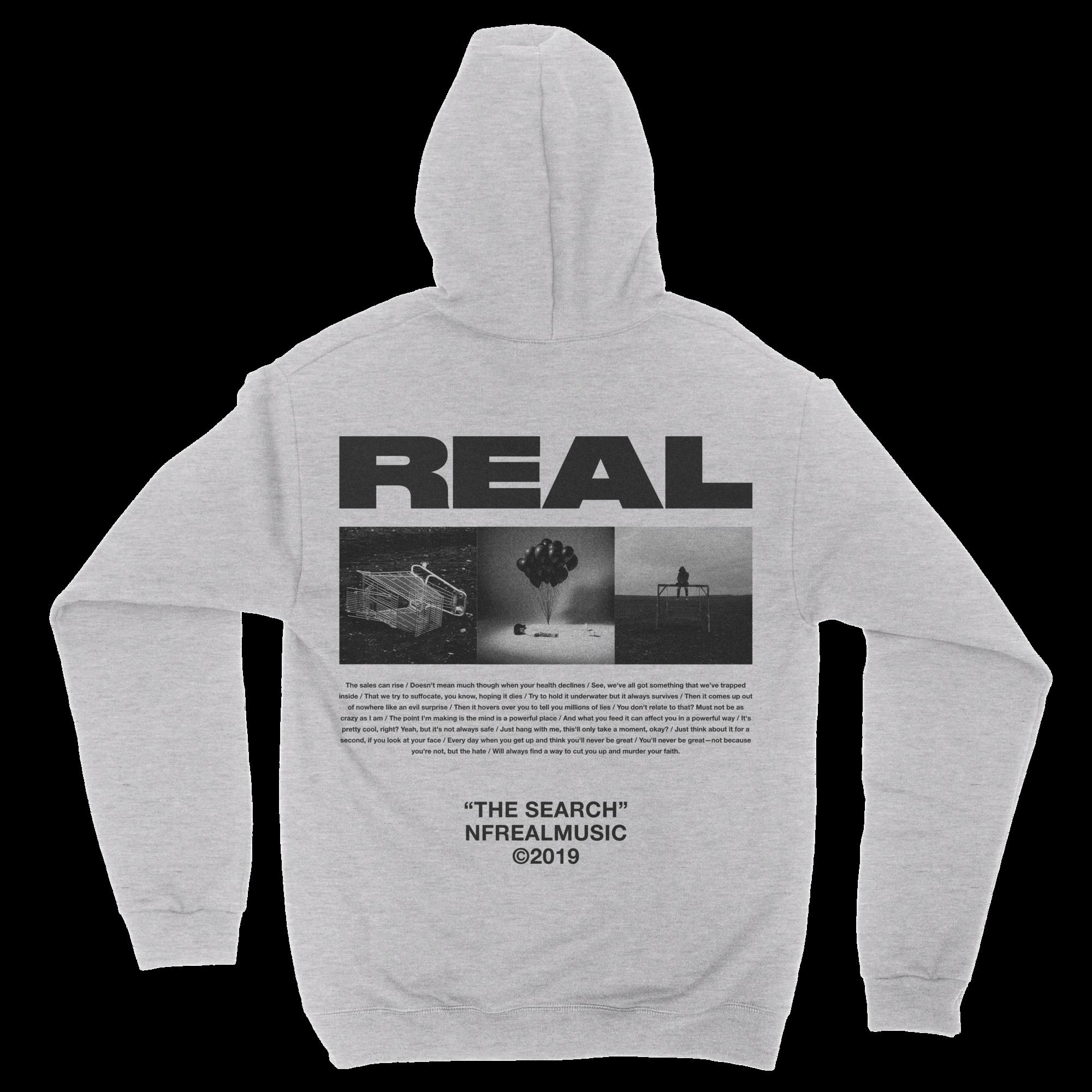 REAL Image Logo Hoodie Hoodies, Nf real, Graphic sweatshirt