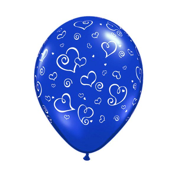 2-balloon with hearts blue.png ❤ liked on Polyvore featuring balloons