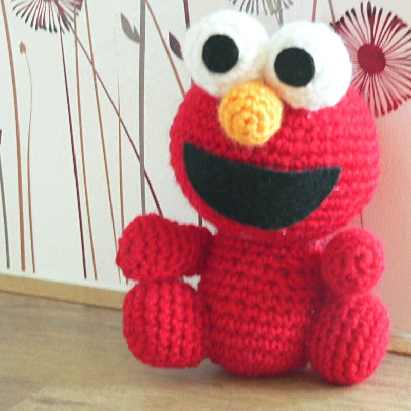 Amigurumi Cookie Monster Pattern : Amigurumi Sesame Street Elmo Red Monster Crochet Pattern ...