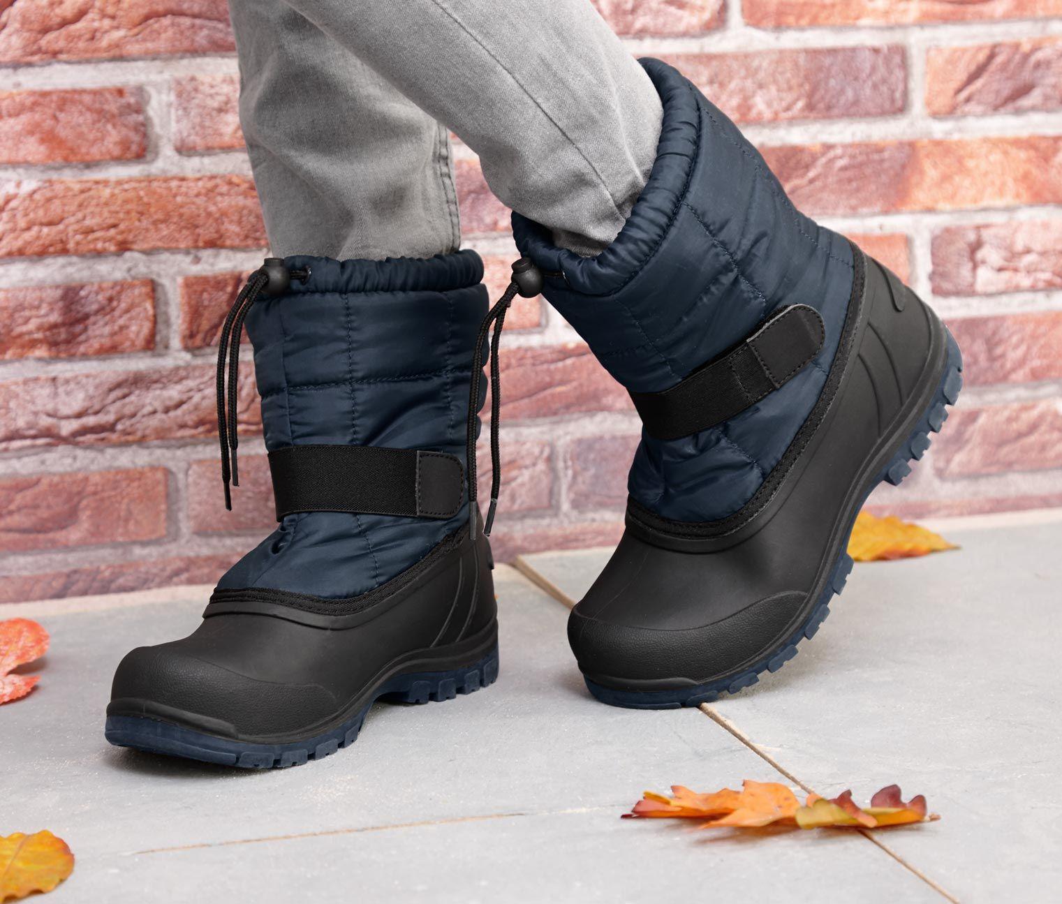 Buty Na Kazda Pogode Ciemnoniebieskie 306127 W Tchibo Shoes Boots Winter Boot