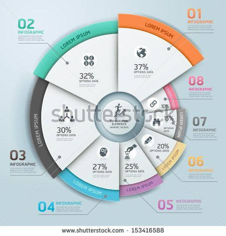 Modern Business Infographics Circle Origami Style Vector Illustration Can Be Used For Workflow Layout Banner Diagram Infografik Grafik Datenvisualisierung