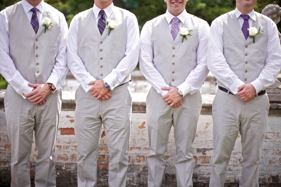 DIY Chic Lake Michigan Wedding | Purple groomsmen, Gray and Wedding