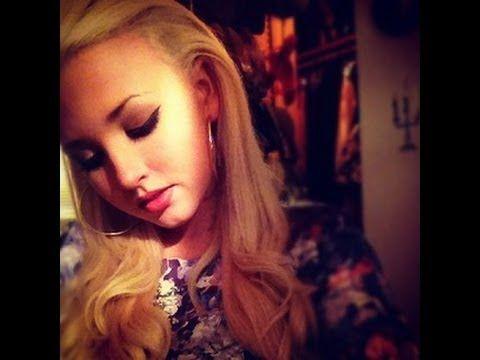 Lana Del Rey inspired hair tutorial using Love Your Locks Extensions!