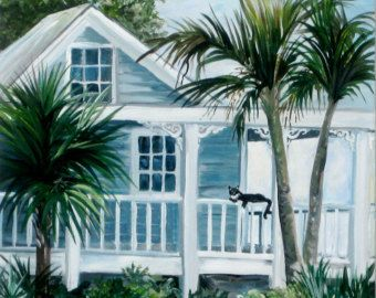 "Painting of Key West cottage, ""Southern Charm"""