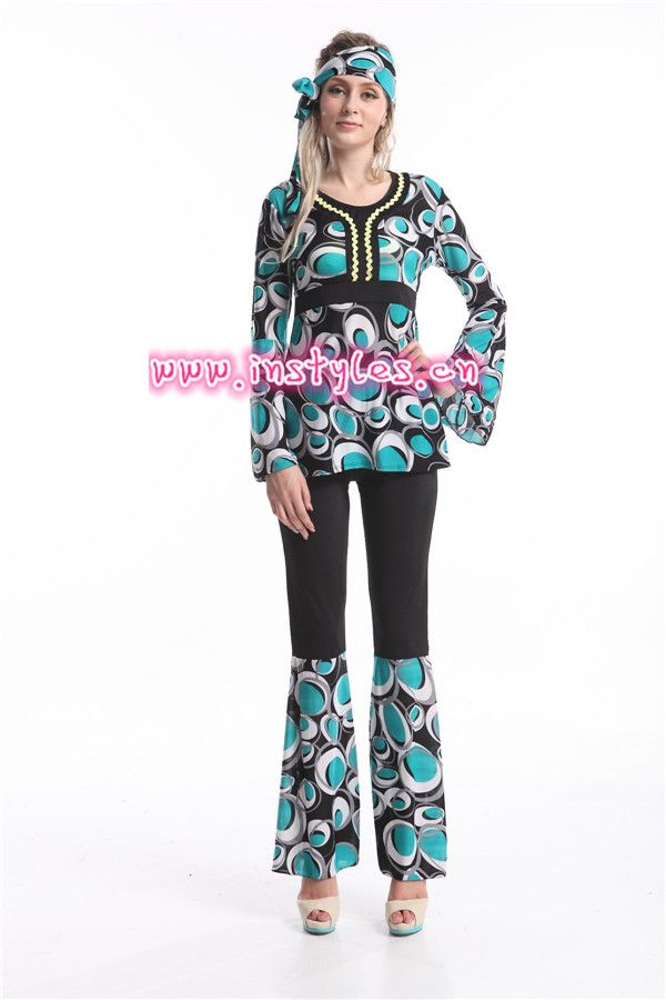 Click to Buy    FREE SHIPPING Ladies 60s 70s Retro Hippie Go Go Girl ... e7b222e183a6