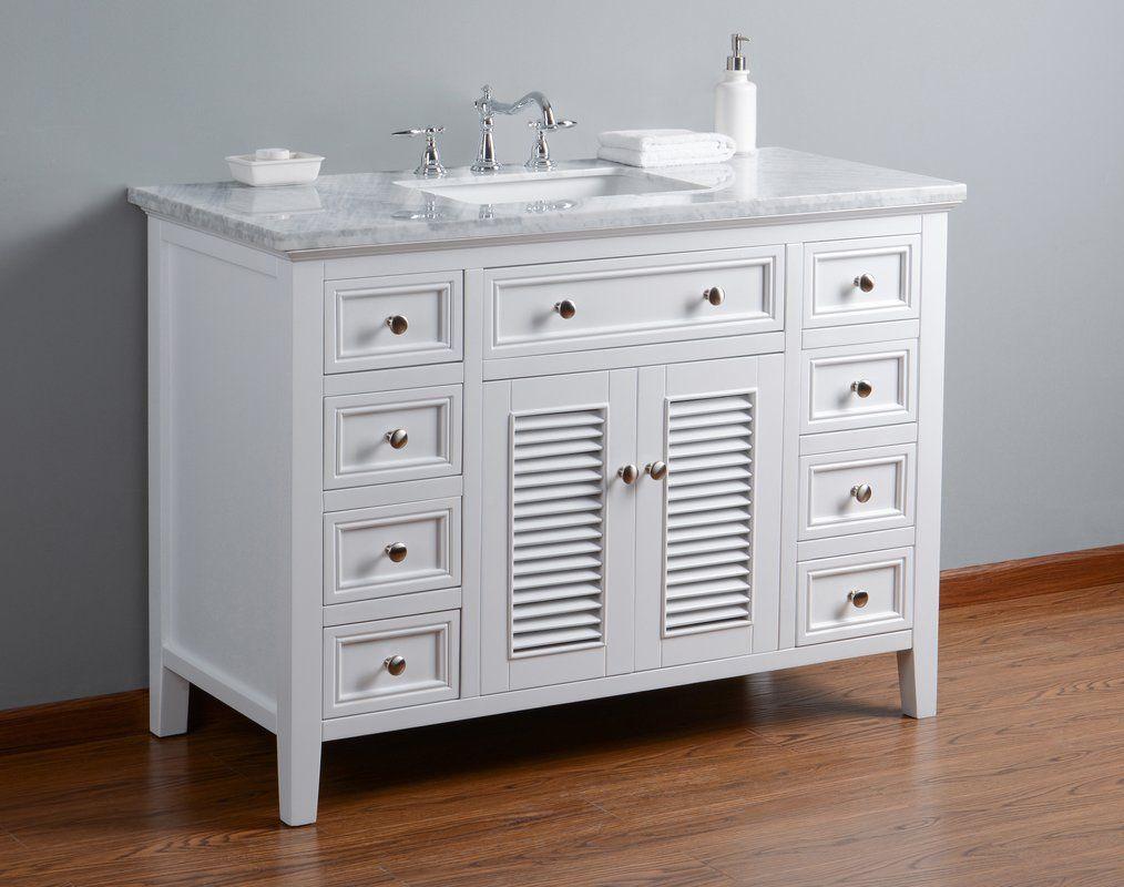 Richards 48 Single Bathroom Vanity Set Single Bathroom Vanity Discount Bathroom Vanities White Vanity Bathroom