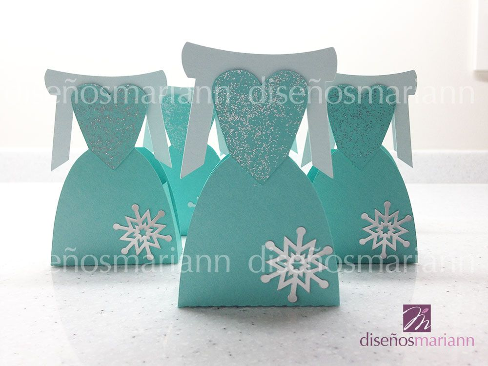 cajita para dulces del vestido de elsa de frozen