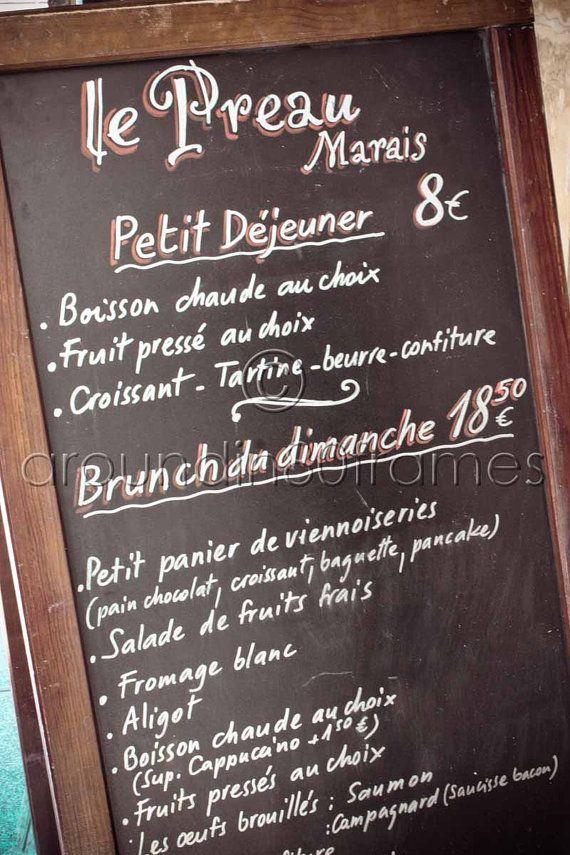 Frnch Cafe Menu
