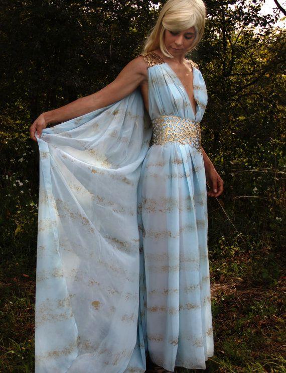 Halloween Costume Daenerys Targaryen Dress - Qarth Khaleesi 5\'5 ...