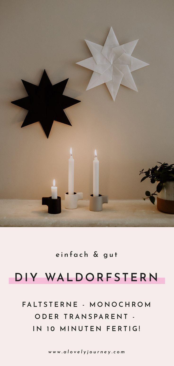 Photo of DIY Waldorfstern: Einfache Faltanleitung für monochrome Weihnachtsdeko