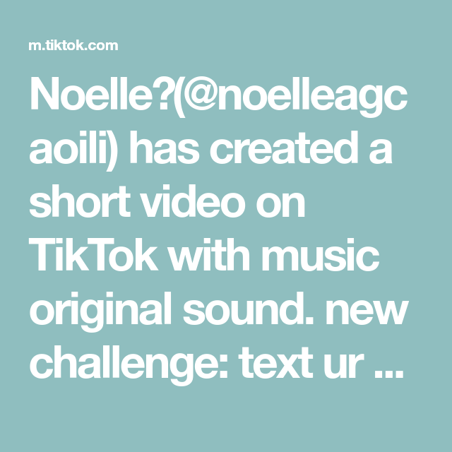 Noelle Noelleagcaoili Has Created A Short Video On Tiktok With Music Original Sound New Challenge Text Ur Boyfriend I Want Attention Record His Reacti