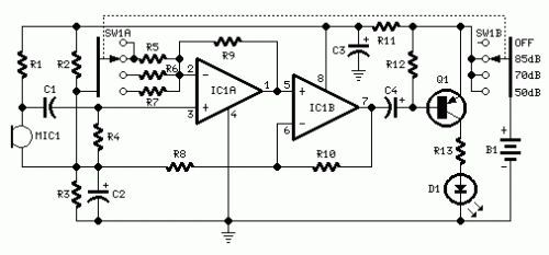 How to build room noise detector circuit diagram electronics how to build room noise detector circuit diagram cheapraybanclubmaster Images