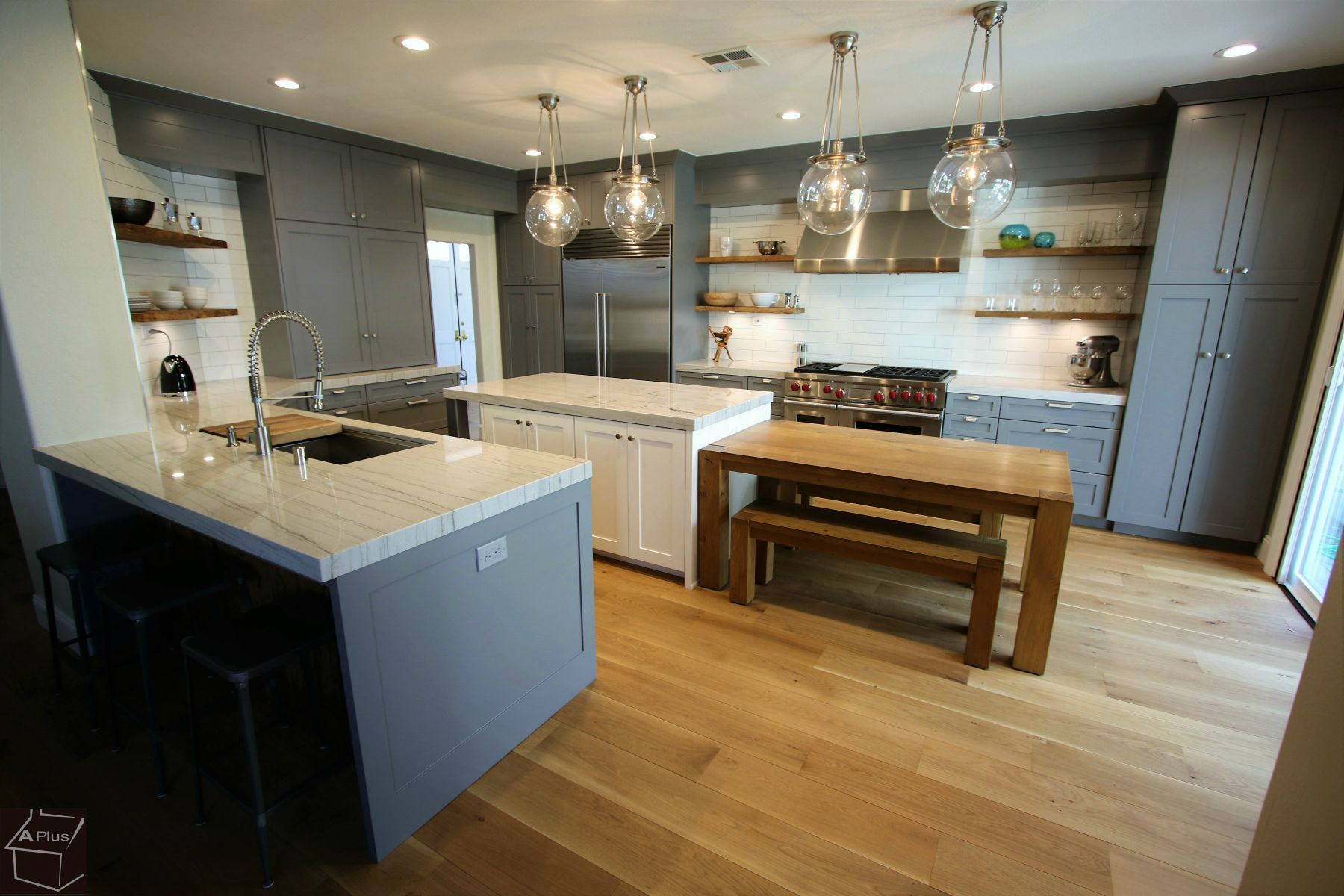 Aplus Interior Design Remodeling Industrial Style Kitchen