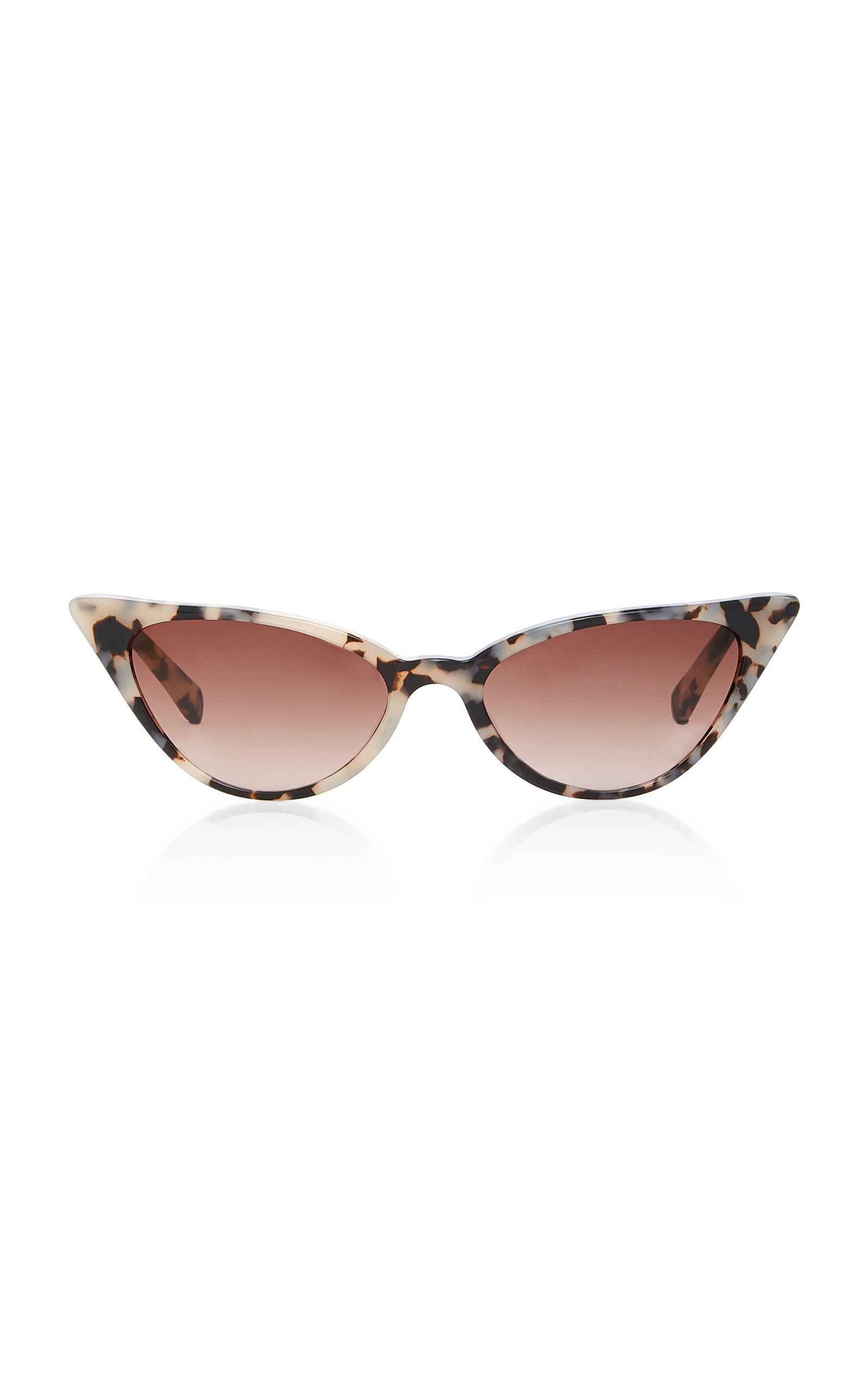 Kate Young Lita Tortoiseshell Cat-Eye Acetate Sunglasses   Eyewear ... 2b2725b76284