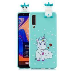 Heart Unicorn Soft 3D Climbing Doll Soft Case for Samsung Galaxy A7 (2018) A750 - Galaxy A7 2018 Cases - Guuds