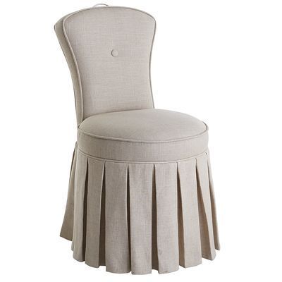 Reese Natural Skirted Vanity Chair | Vanities, Linens and Bedrooms