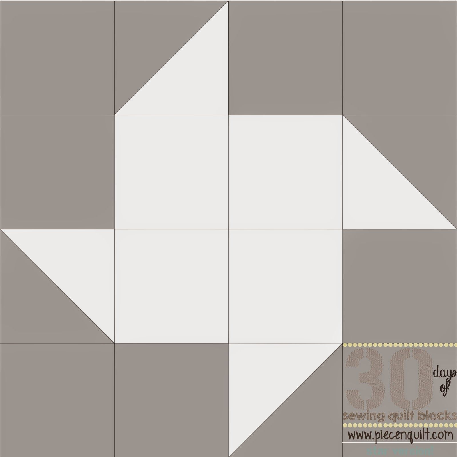 Piece N Quilt: How to: Pinwheel Star Quilt Block- 30 Days of Sewing Quilt Blocks- Star Version!