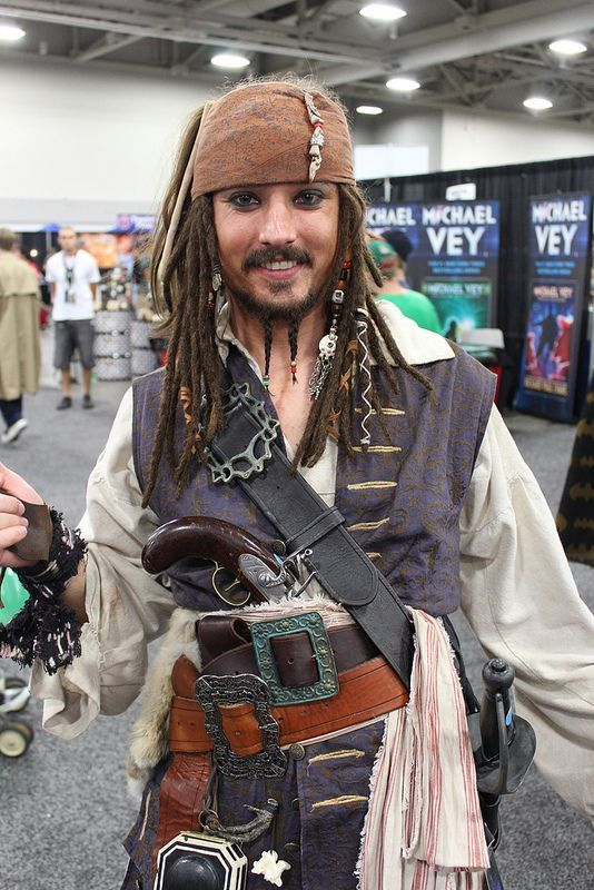 diy jack sparrow pirate costume your costume idea for halloween mardi gras and carnival - Jack Sparrow Halloween Costumes