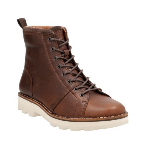 Clarks Korik Edge Tobacco Warm Lined Leather Boots