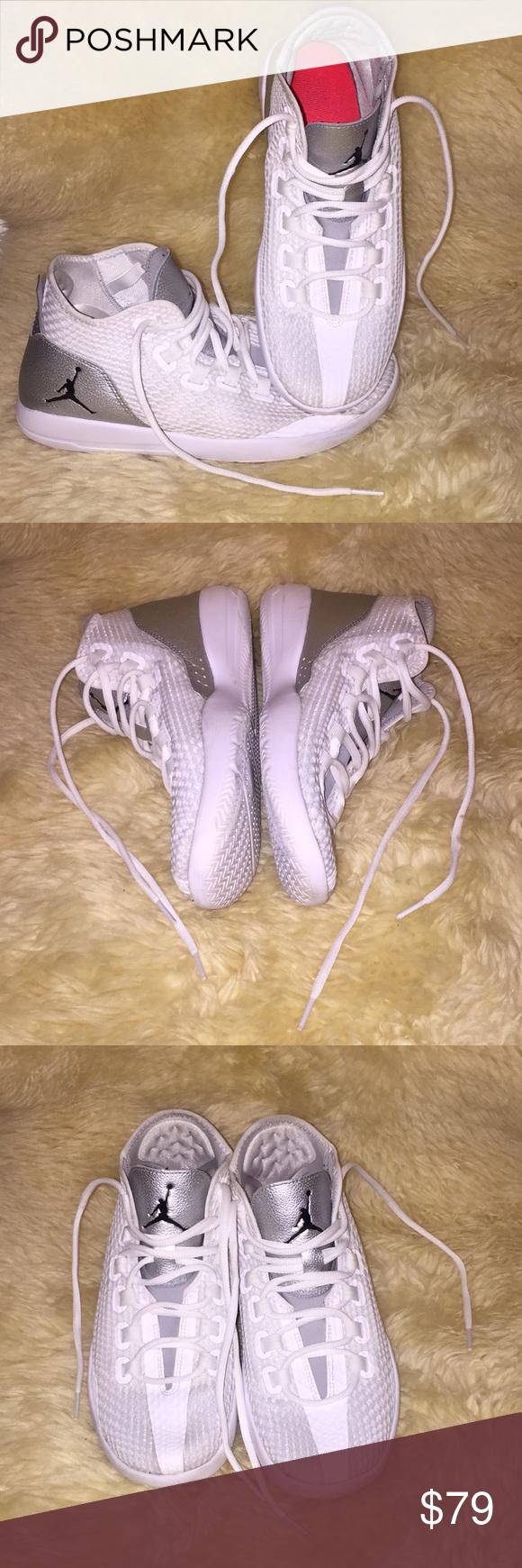 e861fe01140d Nike Jordan Reveal Mens Shoes size 8 In excellent condition Nike Jordan  Reveal Mens Shoes size 8 White Black Metallic Silver 834064 100 Jordan Shoes  ...