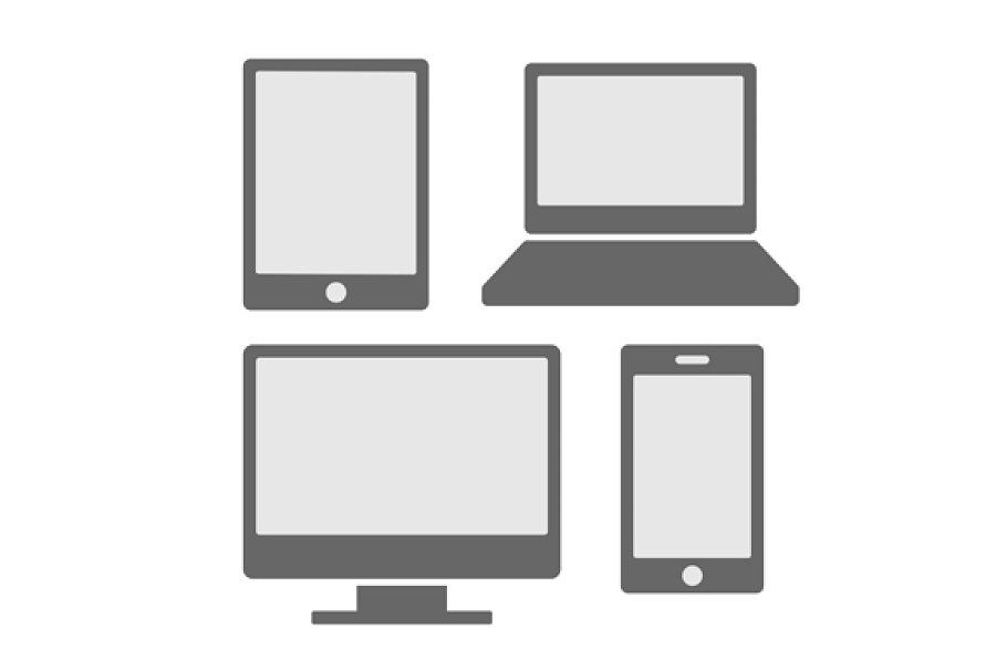 Electronic Devices Icons Set In 2020 Icon Electronic Devices Icon Set