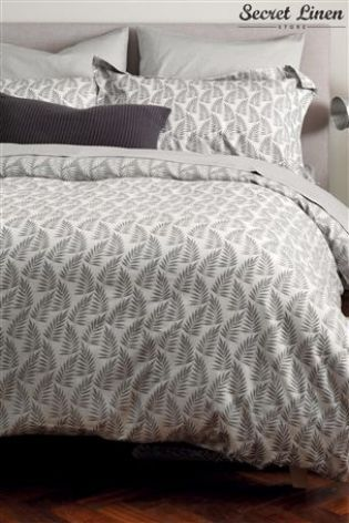 Secret Linen Fern Graphite Duvet Cover From The Next Uk Online