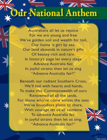 Australian National Anthem - Advance Australia Fair ...