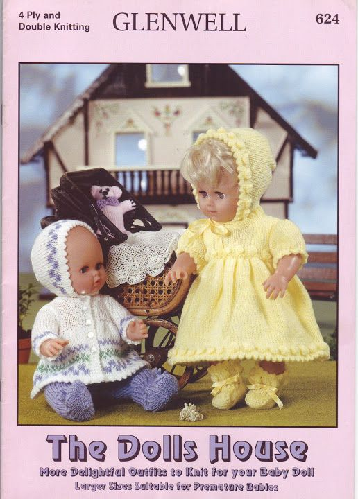 Free Copy of Pattern - Delightful Outfits to Knit for your Baby Doll ...