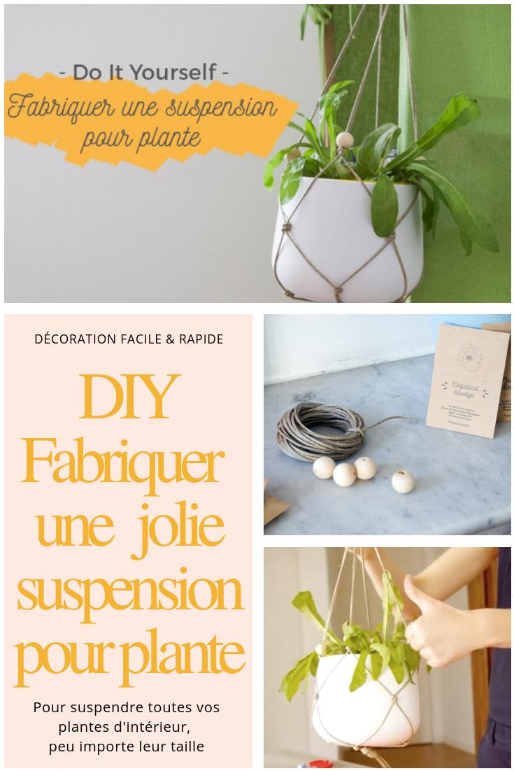 Suspension Pour Plantes D Intérieur comment fabriquer une suspension pour plante ? le diy en