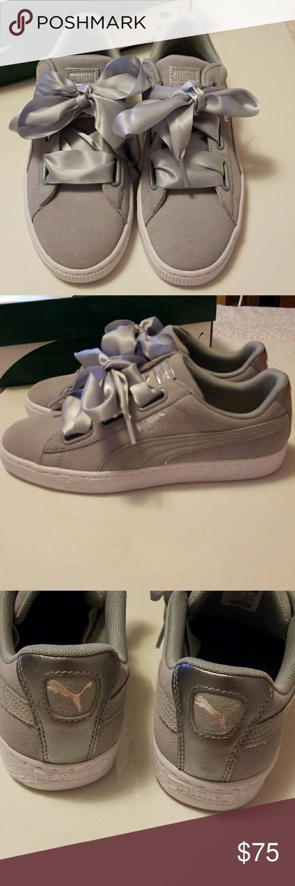 a4bd96429c5ef3 Brand new Puma suede heart safari women shoes sz 9 Brand new and never  worn. Sueded Puma colored grey color. Super cute Puma Shoes Sneakers