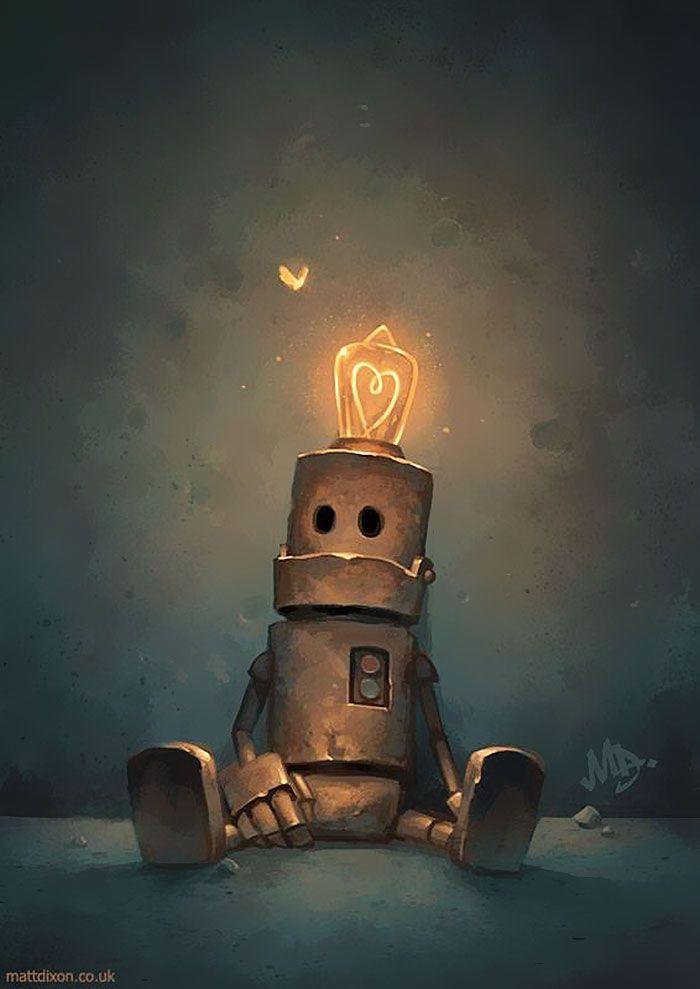 Lonely Robots Experiencing The Quiet Wonder Of The World (Part 2) | Art, Robot  art, Concept art