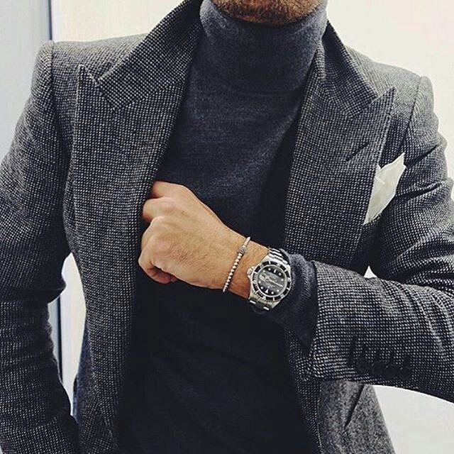 Veste tweed, noire, habillée, veste mi saison Mode homme