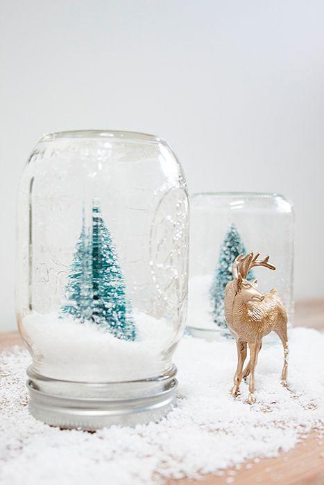 snow globe navidad pinos