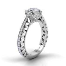 Danhov Petalo Single Shank Engagement Ring FE108