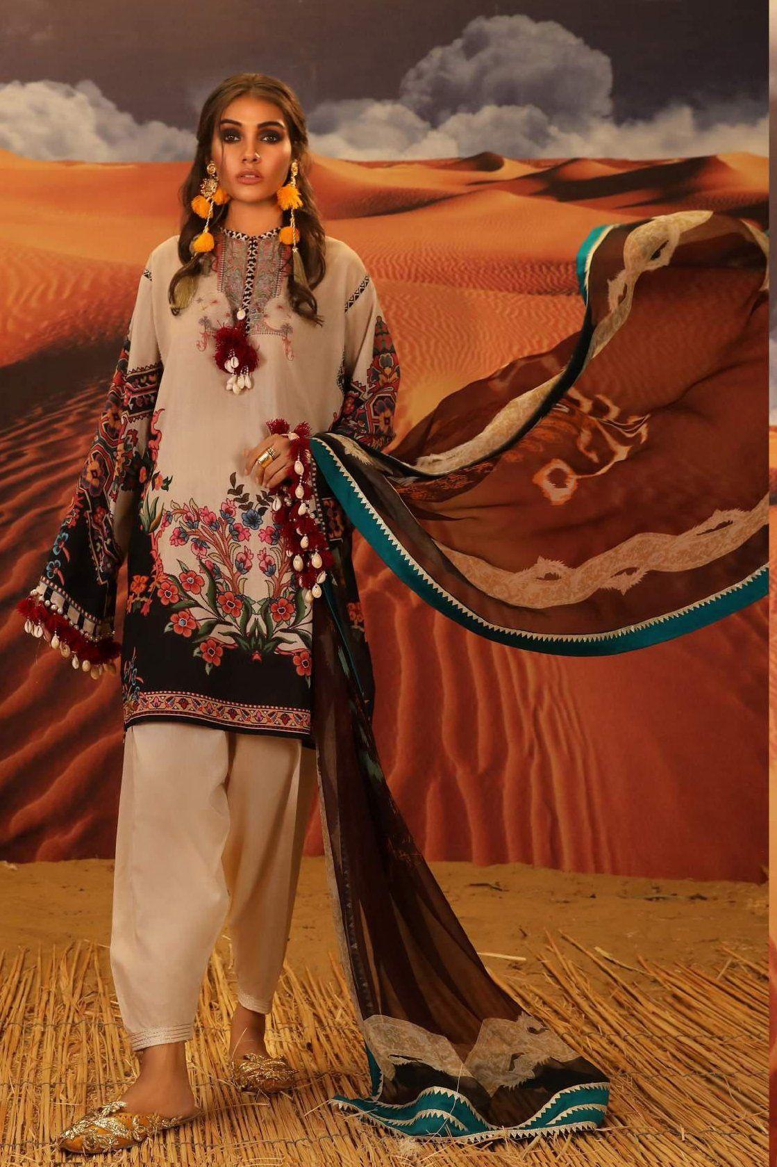 Pakistani shalwar kameez lilen suits Stitched Sanna Safinaz Inspired Winter Suit