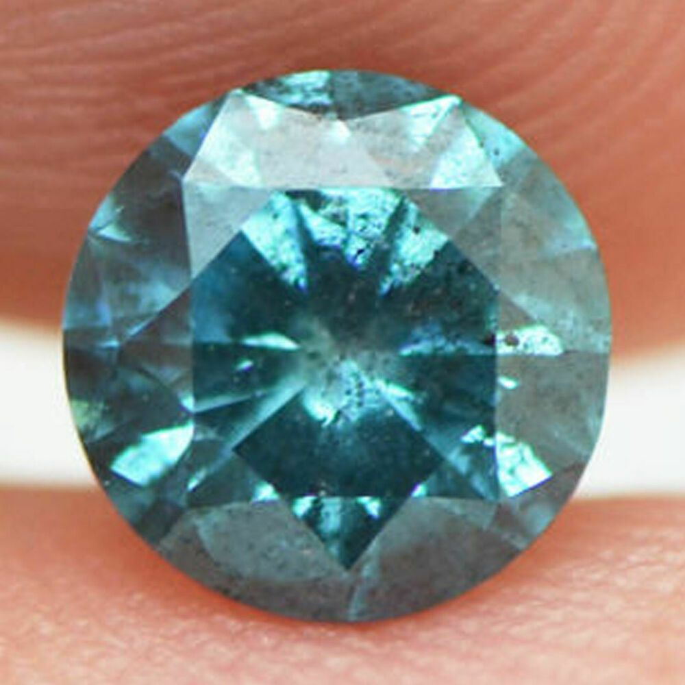 Details About Loose Blue Diamond Fancy Color Round Shape Real 0 79 Carat Enhanced I1 For Ring In 2020 Blue Diamond Colored Diamonds Fancy